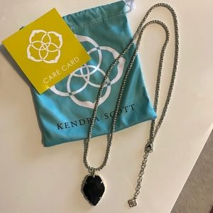 Kendra Scott Long Necklace - black with gold chain